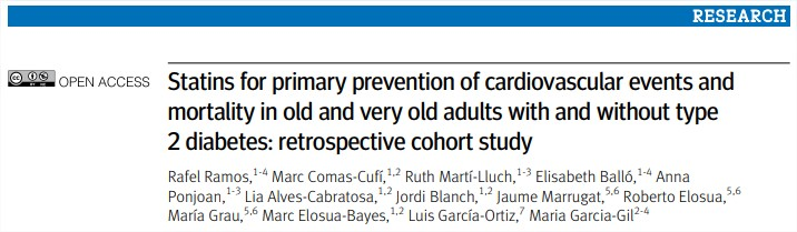 Estatinas para la prevención primaria de eventos cardiovasculares y mortalidad en ancianos2018