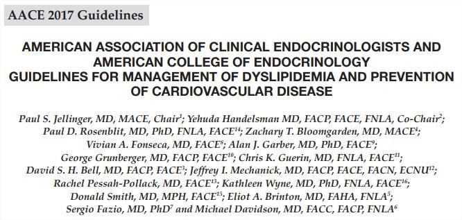Guía para el manejo de la dislipidemia y prevención de la enfermedad cardiovascular – AACE2017