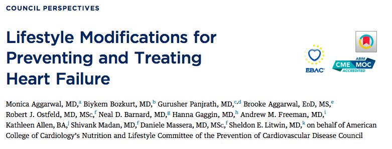 Modificaciones en el estilo de vida para prevenir y tratar la insuficienciacardíaca
