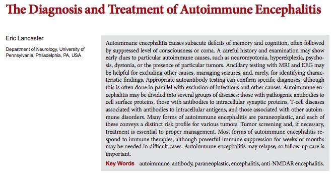 Diagnostico y tratamiento de la encefalitisautoinmune