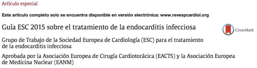 Endocarditis infecciosa: Resumen