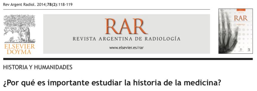 ¿Por qué es importante estudiar la historia de lamedicina?