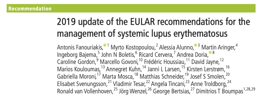 Lupus 2019 EULAR