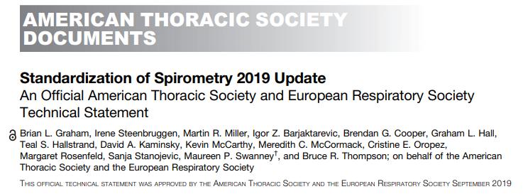 2019 – ATS/ERS – Actualización de la guia deespirometría