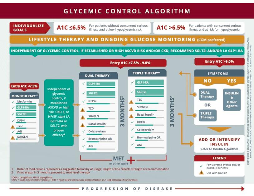 plan de resumen de pautas de diabetes ace