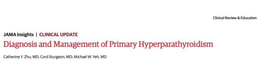 Diagnóstico y manejo del hiperparatiroidismo primario