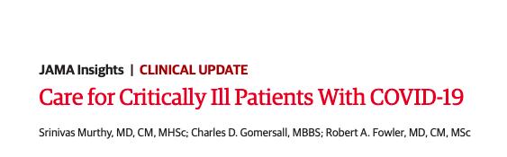 Atención a pacientes críticos conCOVID-19