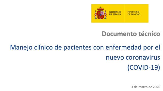 03 Marzo: Manejo clínico de pacientes con enfermedad por el nuevo coronavirus(COVID-19)