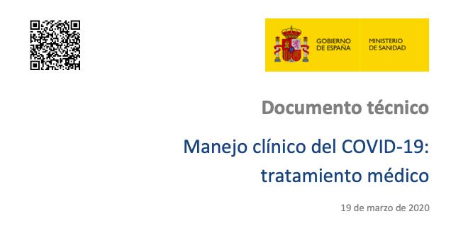 19 Marzo. Manejo clínico del COVID-19: tratamientomédico