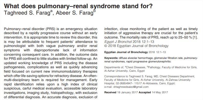 ¿Qué significa el síndromepulmonar-renal?