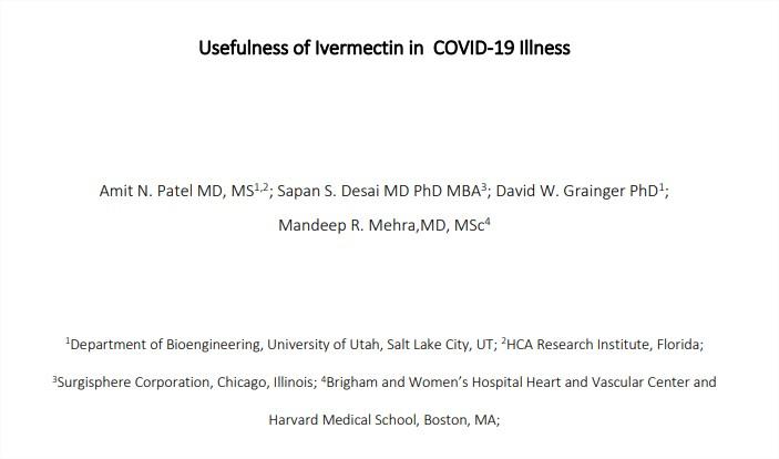 Utilidad de la ivermectina en la enfermedad deCOVID-19