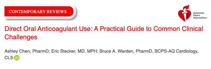 Uso directo de anticoagulantes orales: una guía práctica para desafíos clínicoscomunes