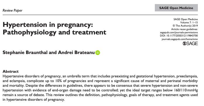 Hipertensión en el embarazo: fisiopatología ytratamiento