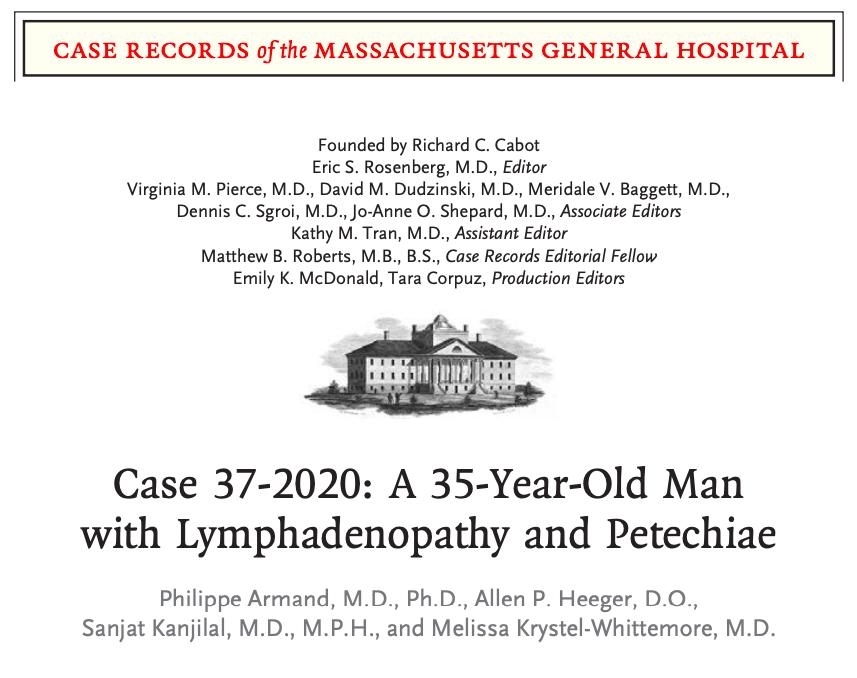 Varón de 35 años con linfadenopatía ypetequias