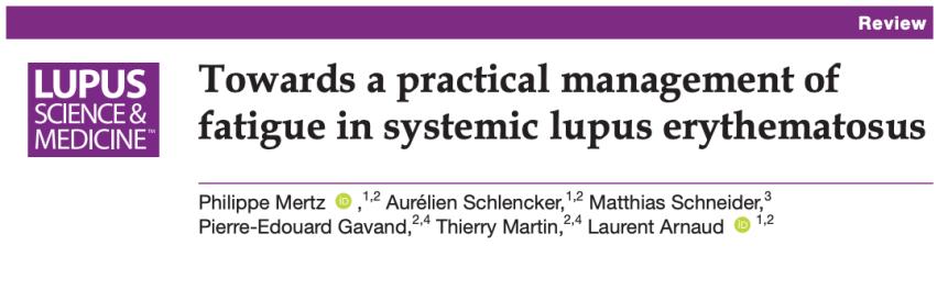 Hacia un manejo práctico de la fatiga en el lupus eritematososistémico