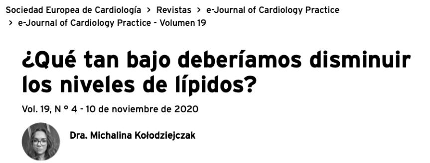 ¿Qué tan bajo deberíamos disminuir los niveles delípidos?