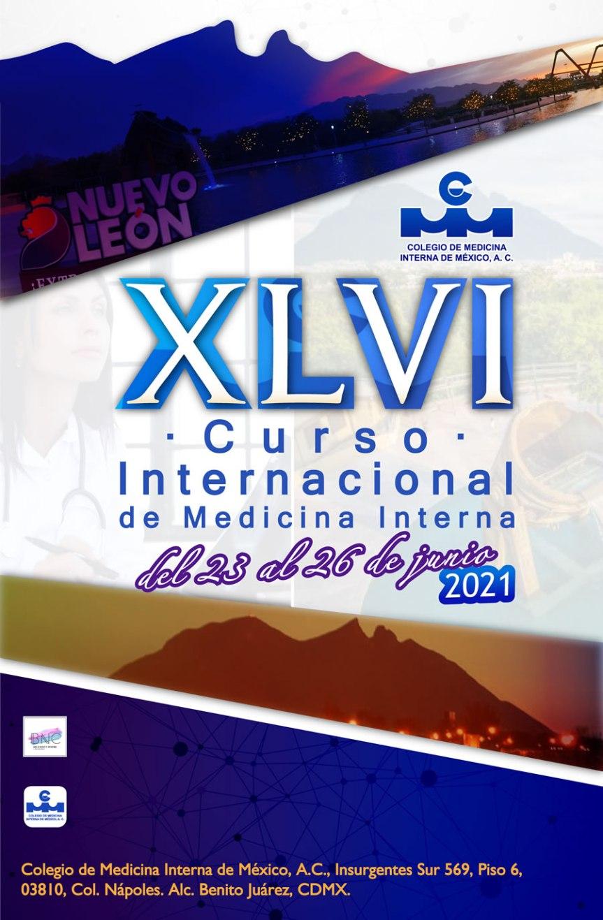 XLVI Curso internacional de medicina interna 2021 –Monterrey