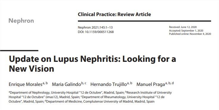 Actualización sobre la nefritis lúpica: en busca de una nuevavisión